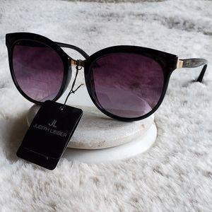 🎉HP Judith Leiber black & gold cat eye sunglasses